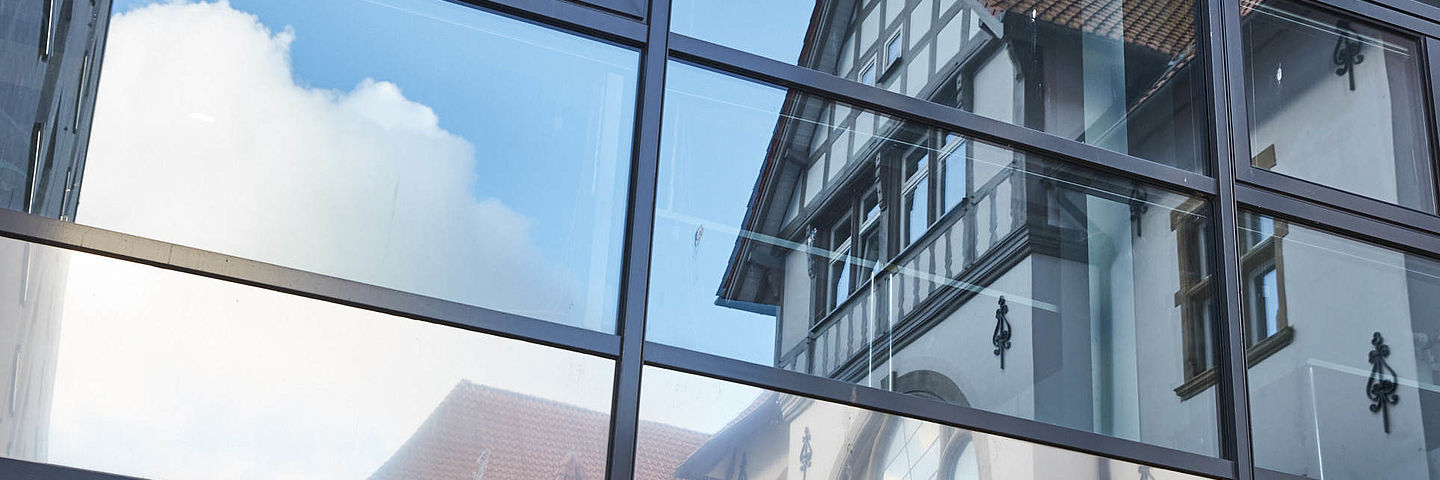 Reflection of Kiel Institute's main building